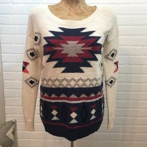 American Eagle Outfitters Aztec Sweater Sz XS